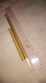 老毛笔;善琏莫蓉湖笔厂,早期兰蕊羊毫,竹帽货一支