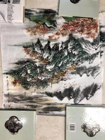 画家 佘德林  山水画一副10