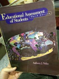 【英文原版】educational assessment of students Third Edition 学生教育评估第三版 Anthony J.Nitko