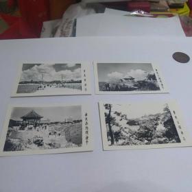 青岛风景老照片四张合售