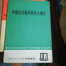 《出版通讯》1975年10月中国古代科学技术大事记