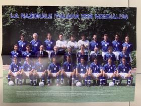 足球海报 1998世界杯意大利队