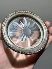 纯银包边水晶杯托