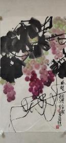 江西十老之一【梁邦楚】花鸟画《葡萄》一幅,40厘米//70厘米