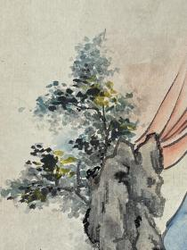 郭慕熙   尺寸  33/22  托片  女,祖籍河北省永清县大新告乡东和顺营村,1926年生于永清,毕业于北平京华美术学院中国画系。擅长国画,系中国美术家协会会员、著名工笔人物画画家、中国画鉴定专家。
