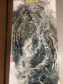 安徽著名画家谭家琪精品四尺山水