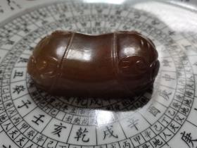 镇堂之宝:传世中医青白玉蝉行脉枕,也可作镇纸。硕大无比,非常厚重。约20厘米。(1016)
