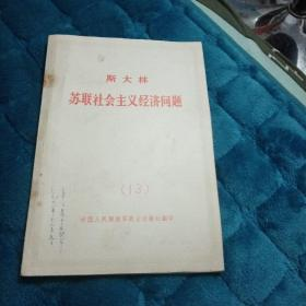 苏联社会主义经济问题