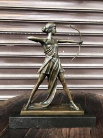 铜雕塑作品,法国著名雕塑艺术家,皮埃尔·勒·法格伊斯 (1892-1962)