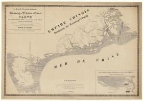 古地图1901 广州湾(含海口城郊图)。纸本大小68.29*95.61厘米。宣纸艺术微喷复制。190元包邮