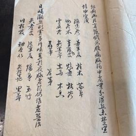 清代中医手抄秘方,书法非常精美!