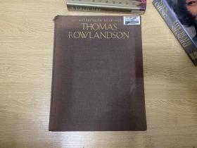 The Watercolor Drawings of Thomas Rowlandson   托马斯·罗兰森淡彩画集 ,董桥:我向来喜欢罗兰森的淡彩漫画,画书斋书痴的尤其好玩。布面精装,超大开本8开,重超1公斤