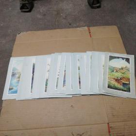 民国画片、1万里长城(1—34  (宽14×长22.5)共34张
