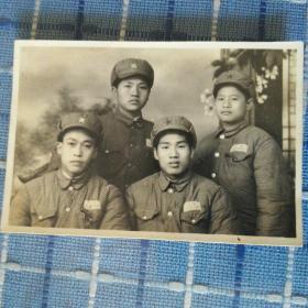 1954年石家庄军校学生合影老照片