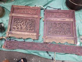 清代 博古清供图 花板一套,3件。