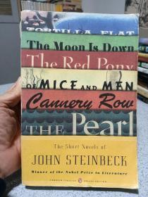 2009年,英文原版,平装毛边版本,企鹅版,诺贝尔文学奖获得者斯坦贝克短篇小说合集,the short novels of John steinbeck