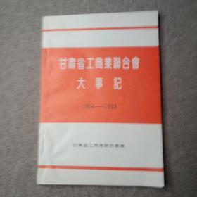 甘肃省工商业联合会大事记 1954-1993
