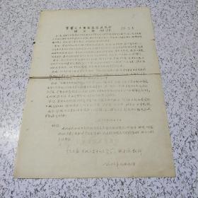 《1966年首都大专院校红卫兵总部组织条例草案》油印传单一张