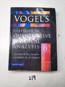 《VOGEL' S TEXTBOOK OF QUANTITATIVE CHEMICAL ANALYSIS》