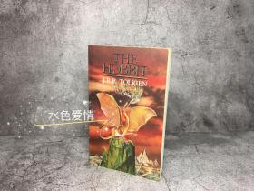 绝版极端品古董书霍比特人1988版英版平装Roger Garland封面插图前后带地图 hobbit 1988 Unwin paperback