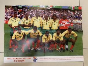 足球海报 1998世界杯 喀麦隆队/比耶克