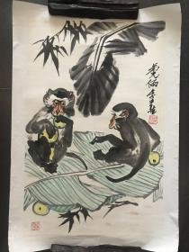 李燕  艺术大师李苦禅之子,国画作品