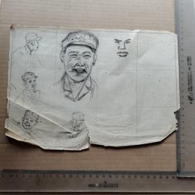 素描,解放军战士