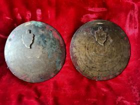 清代大木箱铜锁扣两个