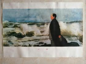 中国经典年画宣传画大展示---年画系列---《心潮》---对开---虒人荣誉珍藏
