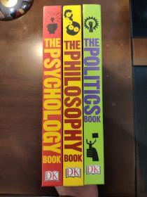 【英文原版 DK哲学百科系列】The Philosophy Book(哲学)  The Psychology Book(心理学)THE POLITICS BOOK(政治学)三册合售 精装本