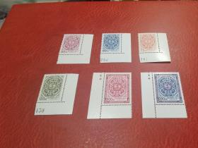 常114  夔龙团双鲤(1+2)全套6全  带角边   原胶全品