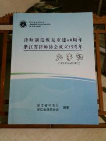 律师制度恢复重建40周年 浙江省律师协会成立35周年  大事记 1979-2019