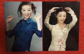 美女演员 郭月 大幅老照片二枚(17.8*12.6cm)