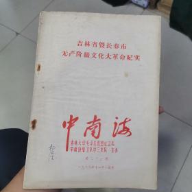 吉林省暨长春市无产阶级文化大革命纪实:1966年印