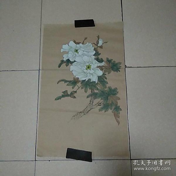 无款花鸟4平尺,,,,,,,,,,仿古纸画(010)