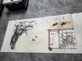 当代著名画家张乔奇野人书画作品