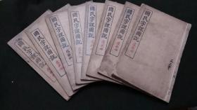 《国民字课图说》8册全,教育总长蔡元培参阅,上海会文堂书局印行 儿童必需 ,每册每页有多幅精美线条插图 。