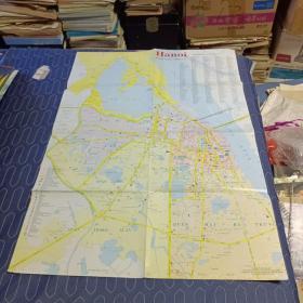 【旧地图】河内市地图 2开 1996年越南原版