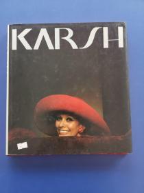 英文原版画册KARSH A Sixty Year Retrospective(尤素福.卡什)(布面精装带护封八一电影制片厂藏书,实物拍图,外品详见图 内页干净整洁)