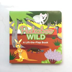peekaboo wild a lift-the flap book  英文儿童纸板书 翻翻书