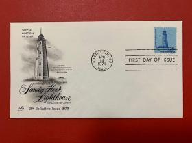 美国灯塔邮票首日封1978