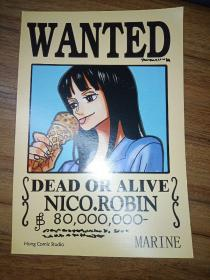 WANTED——DEAD OR ALIVE (NICO.ROBIN)【英文漫画卡片】