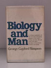 《生物学与人》    Biology and Man by George Gaylord Simpson(科学史)英文原版书