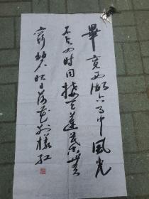 湖南中国硬笔书协会员  李强书法作品一幅