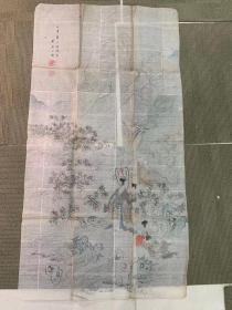 清末民国日本仕女画一张,尺寸111×60厘米