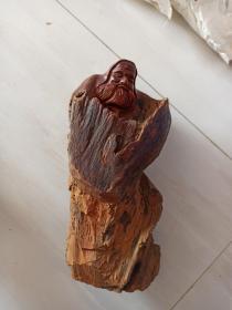 达摩,崖柏。千年老崖柏随形雕塑。