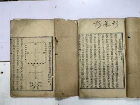 清木刻本《地理知本金锁秘》上下卷(下)2册(开本大)
