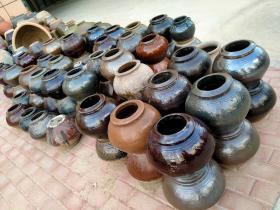 民俗老物件:陶瓷罐酒坛,创意摆件,尺寸如图。190元一个