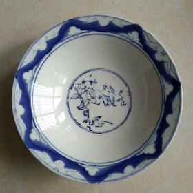 岁月留影:早期南通瓷厂 古朴青花大碗