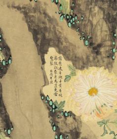 清代的菊展[玫瑰]李秉德 洋菊图屏。最大可做150*321.54厘米,1200元包邮。